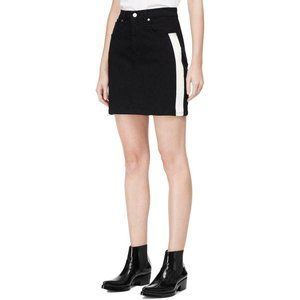 CALVIN KLEIN JEANS B/W DENIM MINI SKIRT SIZE 32/14